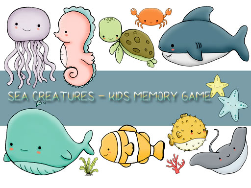 Thumbnail of Kids Memory Sea Creatures