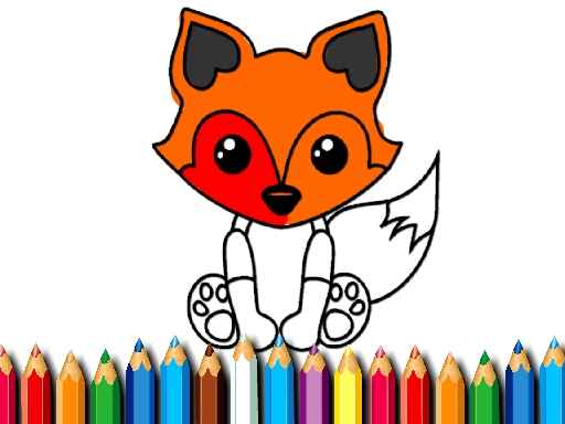 Thumbnail for Fox Coloring Book