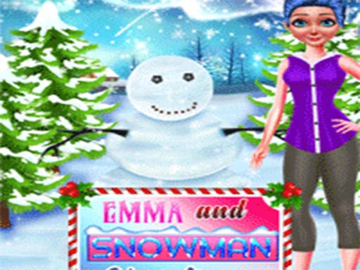 Emma And Snowman Christmas thumbnail