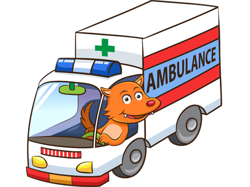 Cartoon Ambulance Puzzle thumbnail