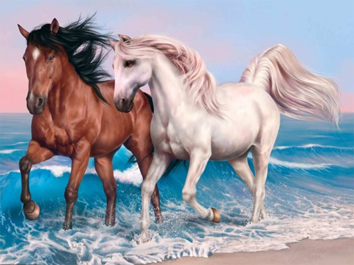 Animals Jigsaw Puzzle Horses thumbnail