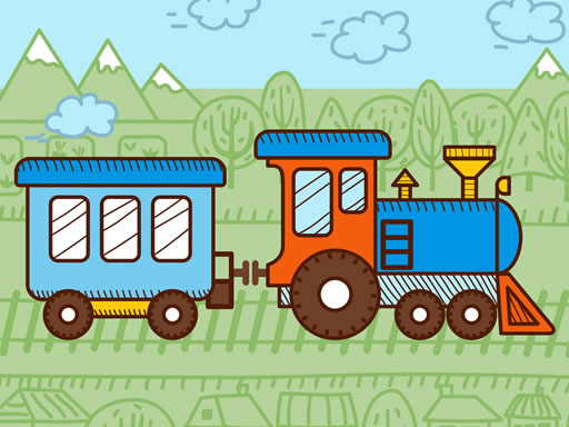 Trains For Kids Coloring thumbnail