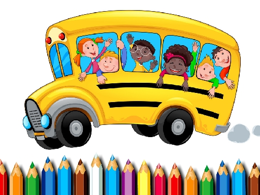 School Bus Coloring Book thumbnail