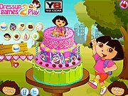 Thumbnail of Dora Birthday- Cake Decor