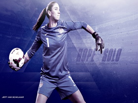 Hope Solo Soccer Puzzle thumbnail