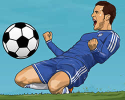 Thumbnail of Hazard Soccer Puzzle