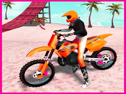 Thumbnail of Motocross Beach Jumping Bike Stunt Game