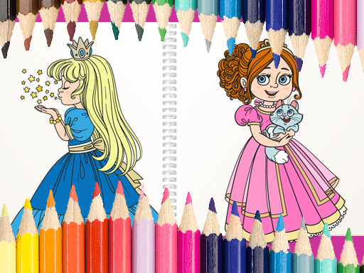 Beautiful Princess Coloring Book thumbnail