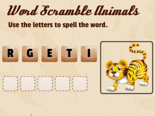 Thumbnail of Word Scramble Animals
