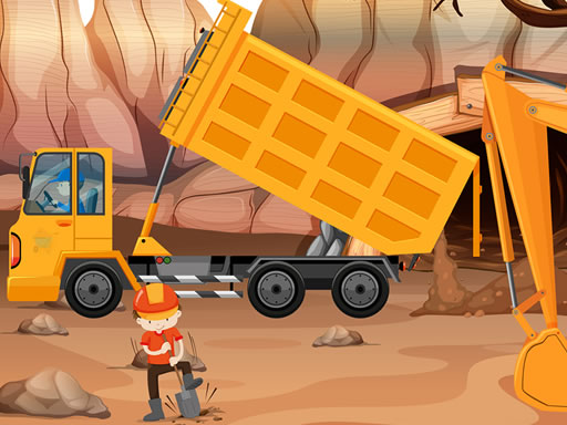 Thumbnail of Dump Trucks Hidden Objects