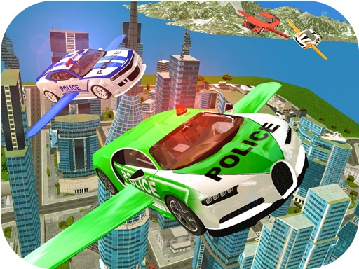 Thumbnail of Flying Police Car Simulator