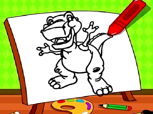 Easy Kids Coloring Dinosaur thumbnail