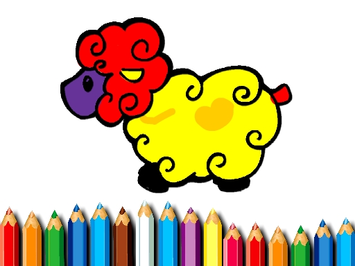 Thumbnail of Baby Sheep Coloring Game
