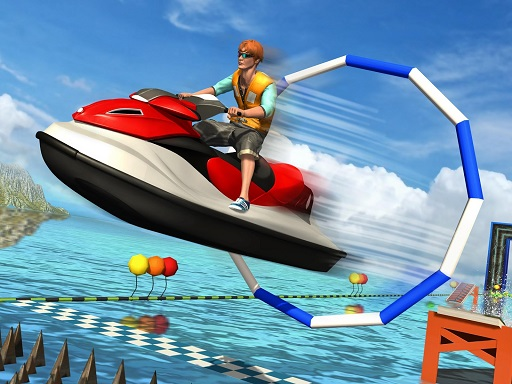 Super Jet Ski Race Stunt : Water Boat Racing 2020 thumbnail