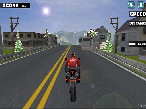 Thumbnail of Highway Rider Motorcycle Racer Game