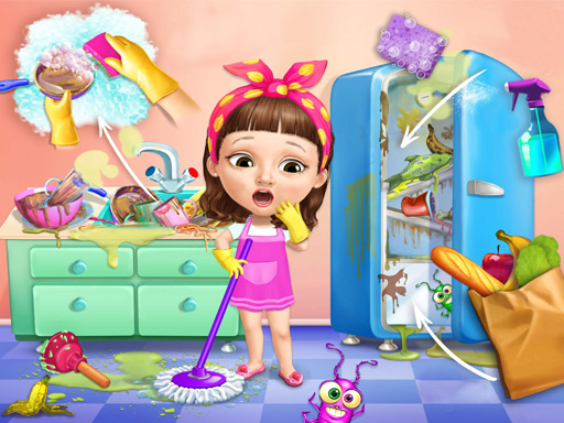 Sweet Baby Girl Cleanup Messy House thumbnail