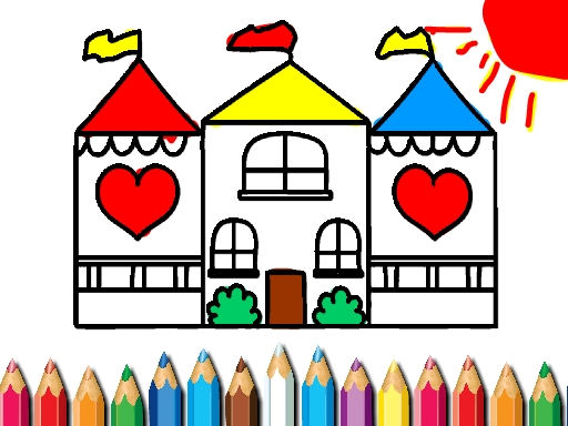 Thumbnail of Doll House Coloring Book