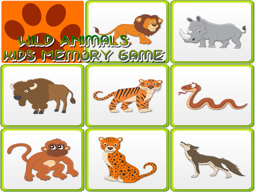 Kids Memory Wild Animals thumbnail
