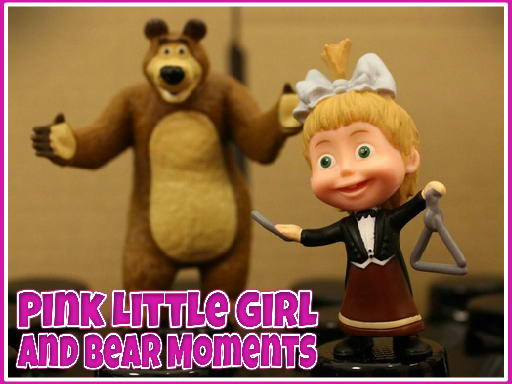 Pink Little Girl and Bear Moments thumbnail
