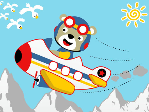 Friendly Airplanes For Kids Coloring thumbnail